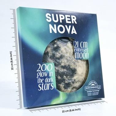 Super Nova Karanlıkta Parlayan Ay Renkli